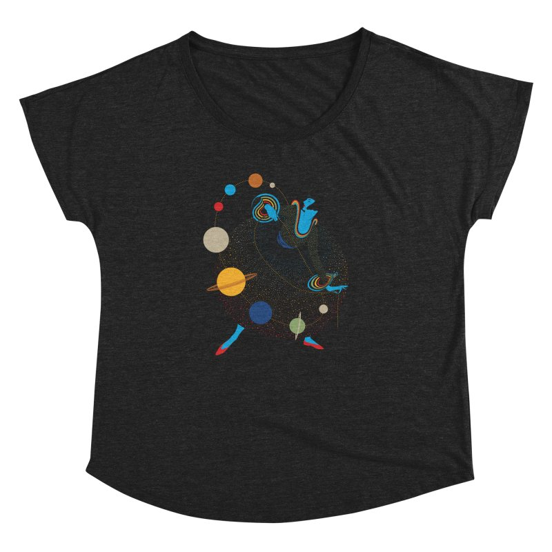 Mademoiselle Galaxy Women's Dolman by Chick & Owl Artist Shop