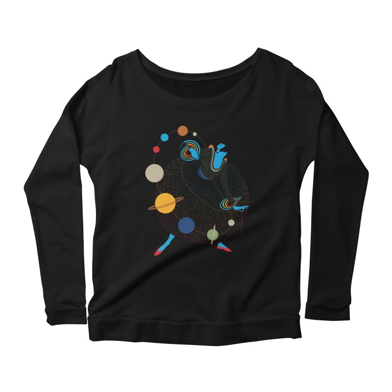 Mademoiselle Galaxy Women's Scoop Neck Longsleeve T-Shirt by Chick & Owl Artist Shop