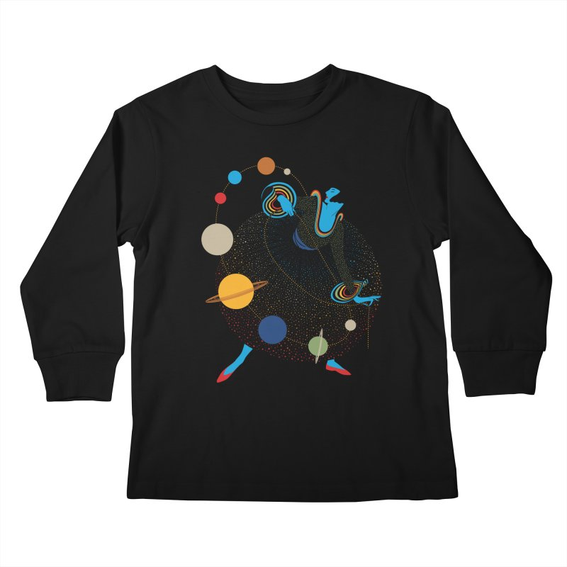 Mademoiselle Galaxy Kids Longsleeve T-Shirt by Chick & Owl Artist Shop
