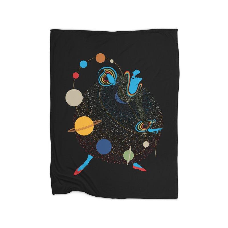 Mademoiselle Galaxy Home Fleece Blanket Blanket by Chick & Owl Artist Shop