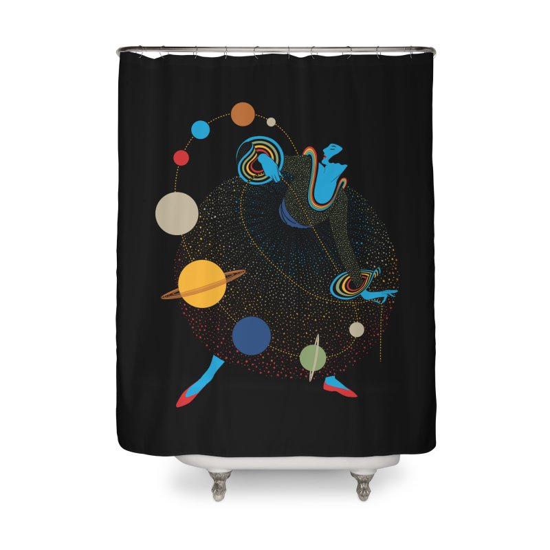 Mademoiselle Galaxy Home Shower Curtain by Chick & Owl Artist Shop