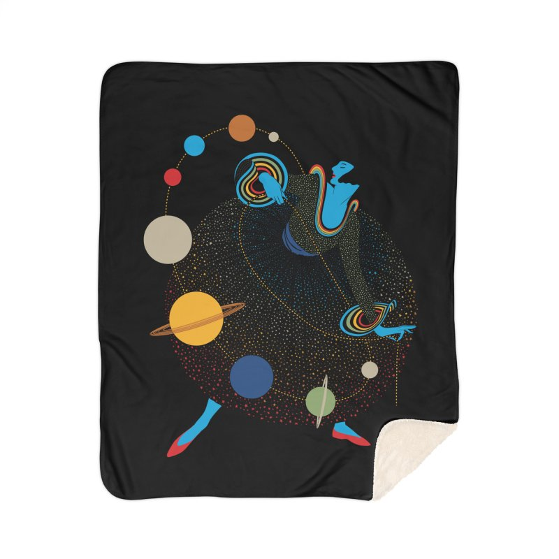 Mademoiselle Galaxy Home Sherpa Blanket Blanket by Chick & Owl Artist Shop