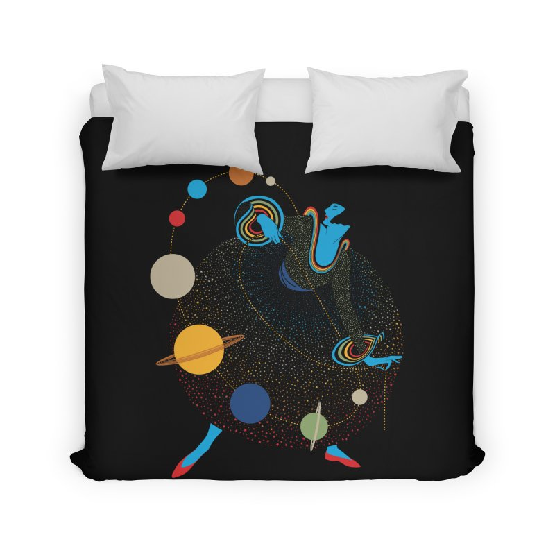 Mademoiselle Galaxy Home Duvet by Chick & Owl Artist Shop