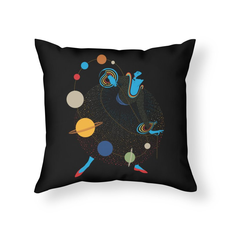 Mademoiselle Galaxy Home Throw Pillow by Chick & Owl Artist Shop