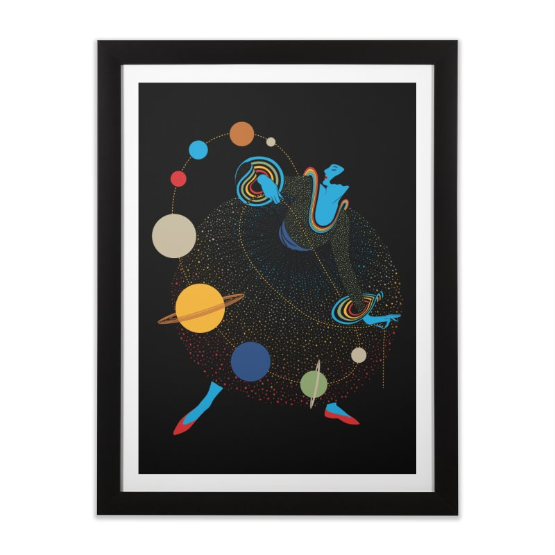Mademoiselle Galaxy Home Framed Fine Art Print by Chick & Owl Artist Shop