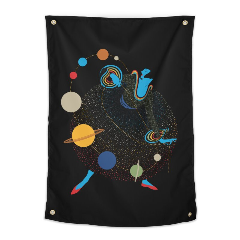 Mademoiselle Galaxy Home Tapestry by Chick & Owl Artist Shop