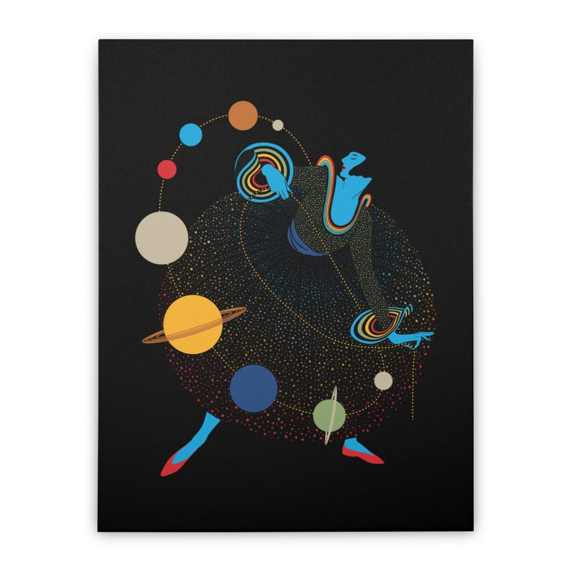 Mademoiselle Galaxy Home Stretched Canvas by Chick & Owl Artist Shop