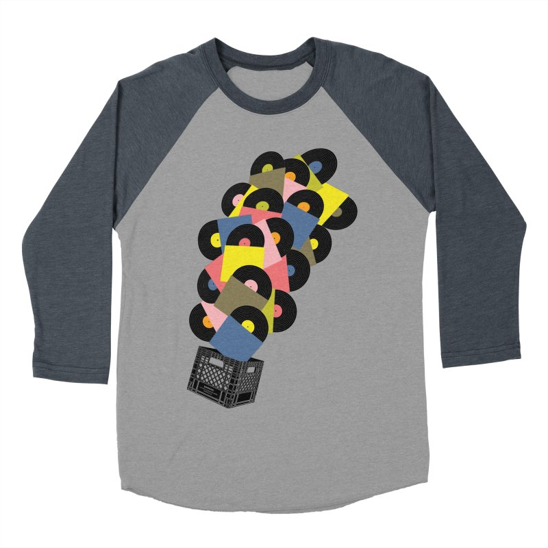 Untitled (Hi-Fidelity) Women's Baseball Triblend Longsleeve T-Shirt by Chick & Owl Artist Shop