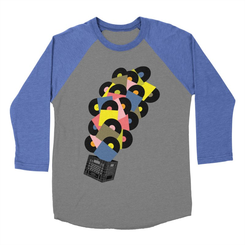 Untitled (Hi-Fidelity) Men's Baseball Triblend Longsleeve T-Shirt by Chick & Owl Artist Shop