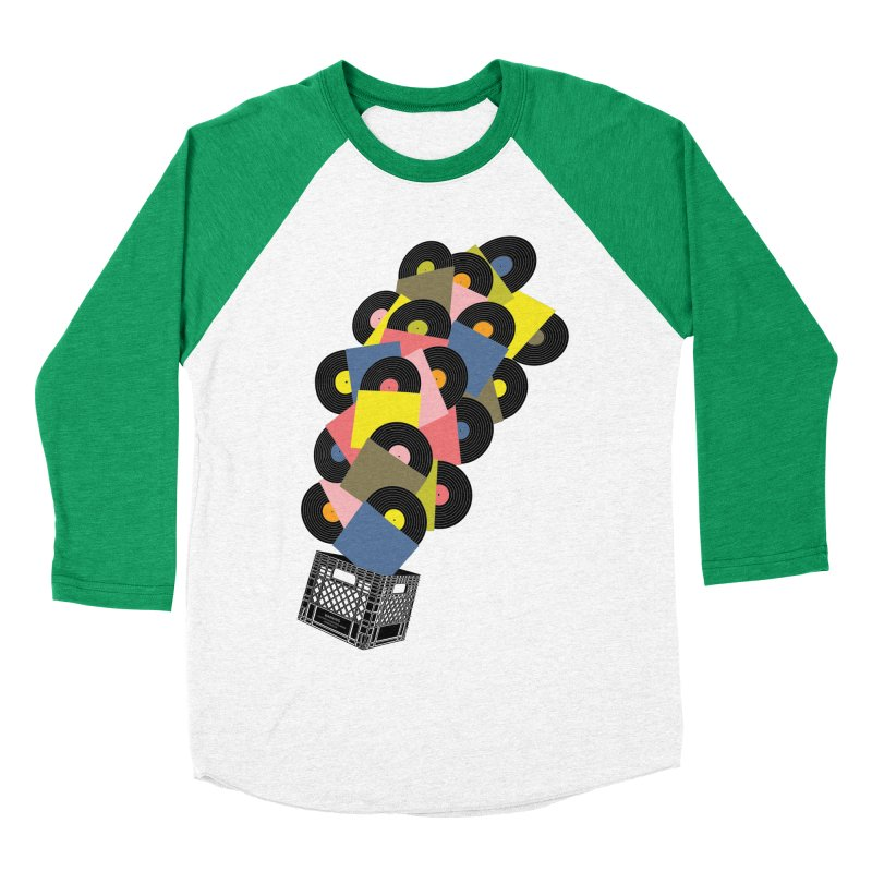 Untitled (Hi-Fidelity) Men's Baseball Triblend T-Shirt by Chick & Owl Artist Shop