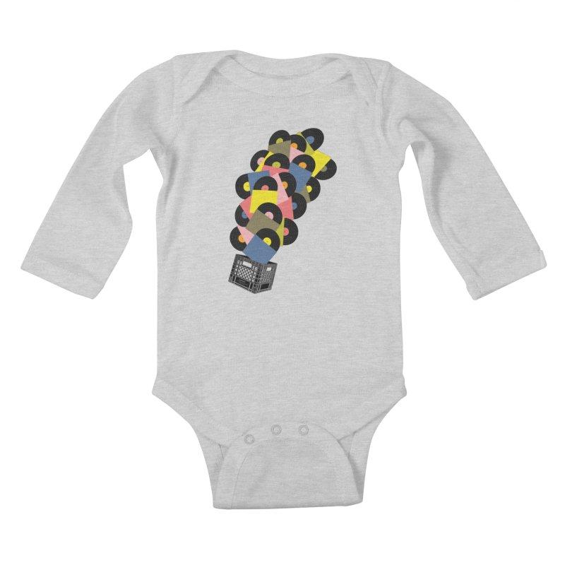 Untitled (Hi-Fidelity) Kids Baby Longsleeve Bodysuit by Chick & Owl Artist Shop