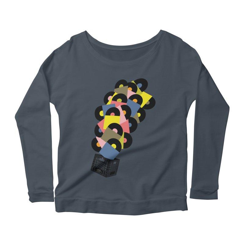 Untitled (Hi-Fidelity) Women's Scoop Neck Longsleeve T-Shirt by Chick & Owl Artist Shop