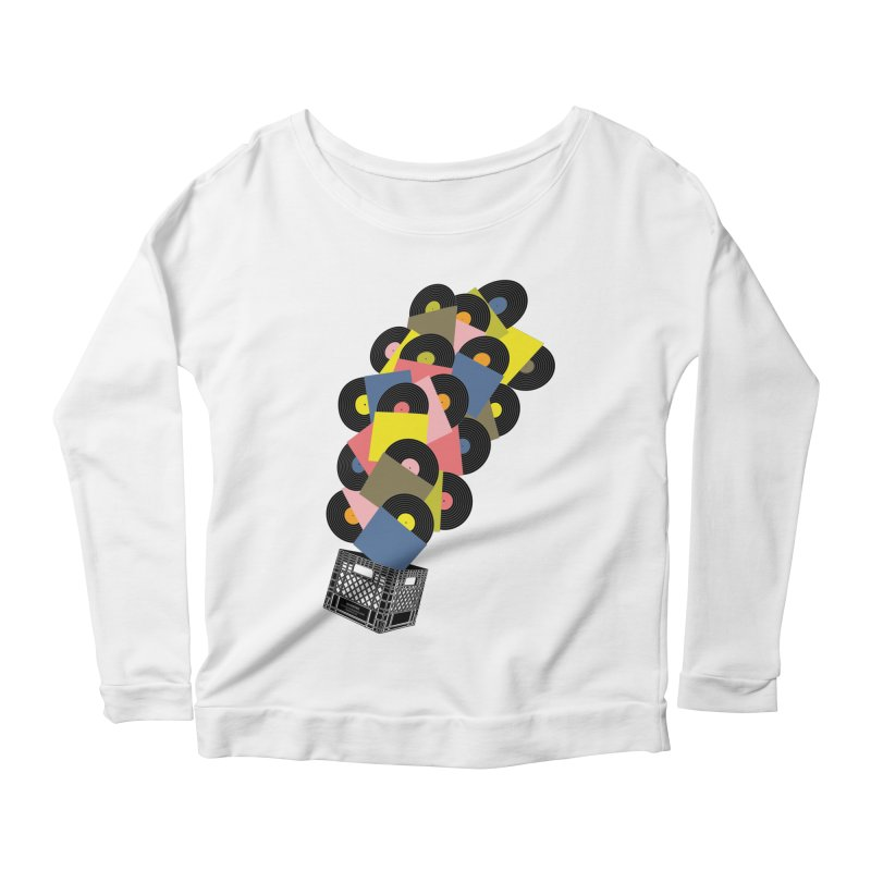 Untitled (Hi-Fidelity) Women's Scoop Neck Longsleeve T-Shirt by Chick & Owl Artist Shop