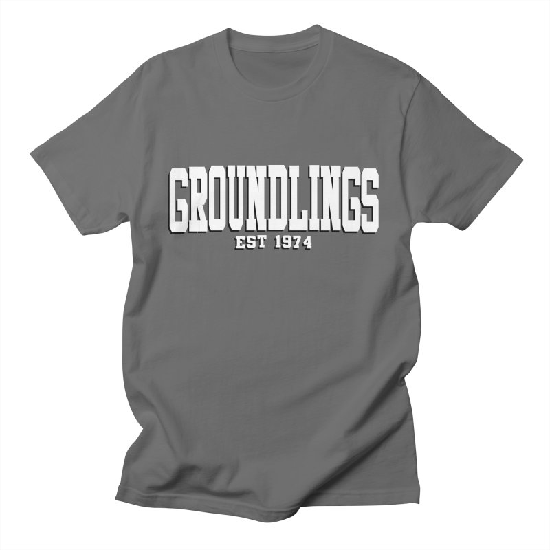 Groundlings Varsity Font Men's T-Shirt by The Groundlings' Shop