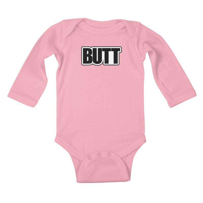 BUTT Kids Baby Longsleeve Bodysuit by The Grumpy Signmaker's Shop