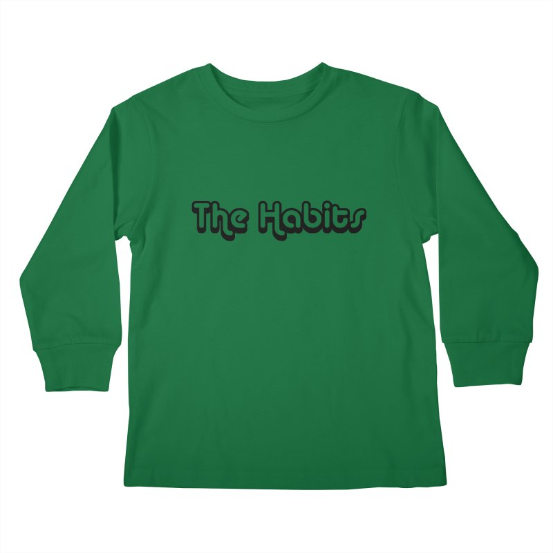 The Habits (black outline) Kids Longsleeve T-Shirt by The Habits Official Merch
