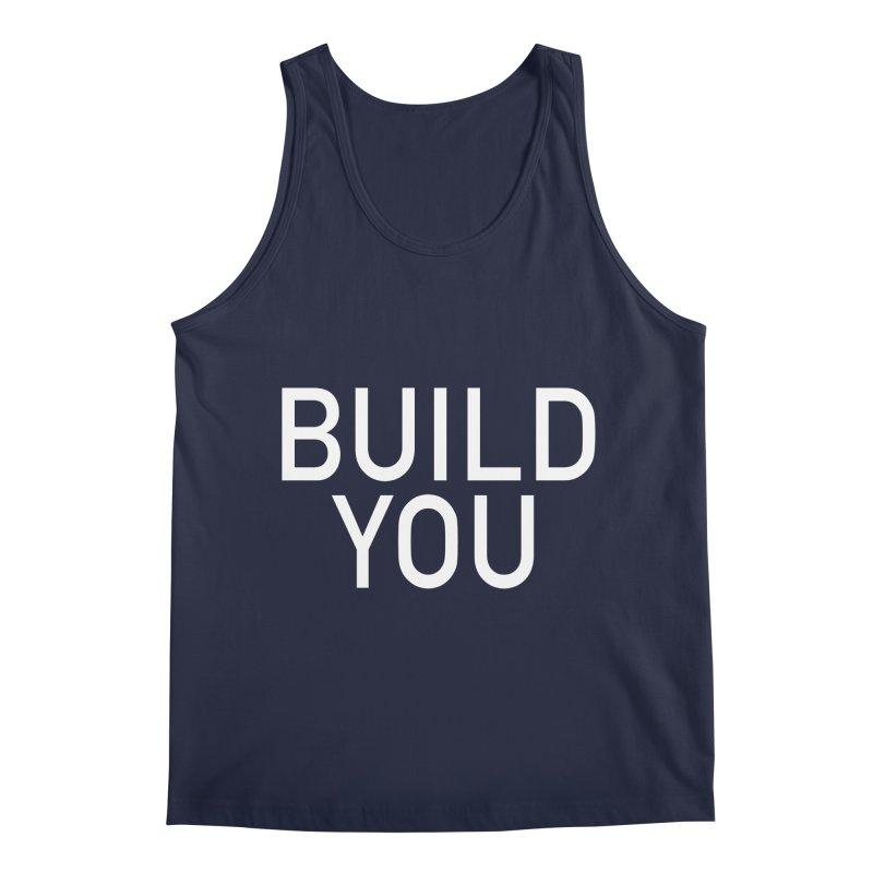 BUILD YOU in Men's Regular Tank Navy by The Hall Method