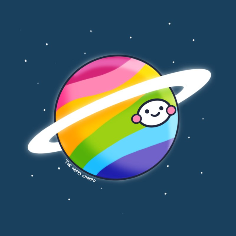Planet Rainbow Kids T-Shirt by The Happy Chappo