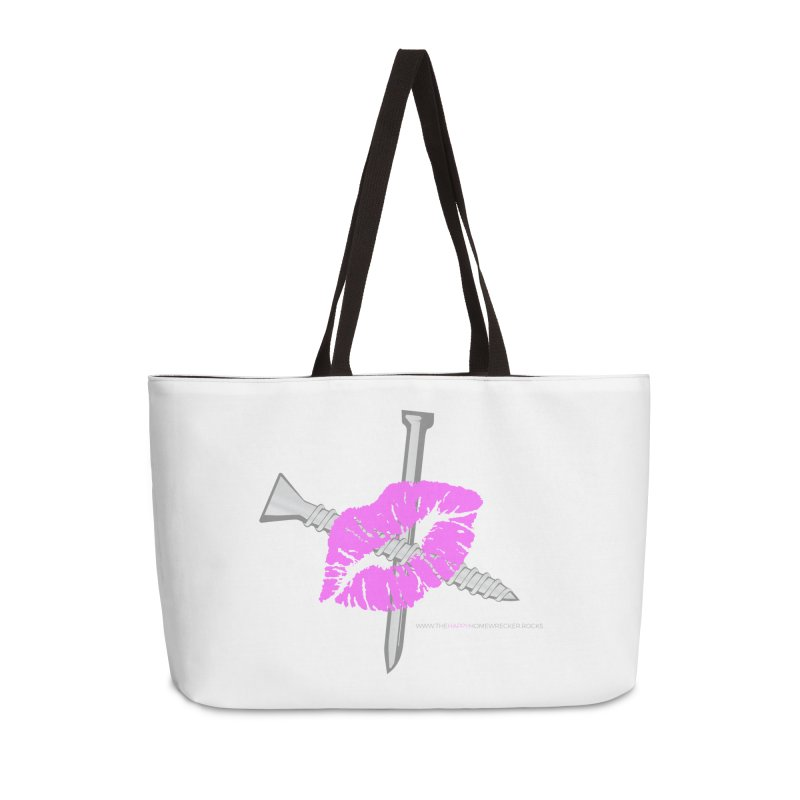 The HappyHomeWrecker large logo in Weekender Bag by thehappyhomewrecker's Artist Shop