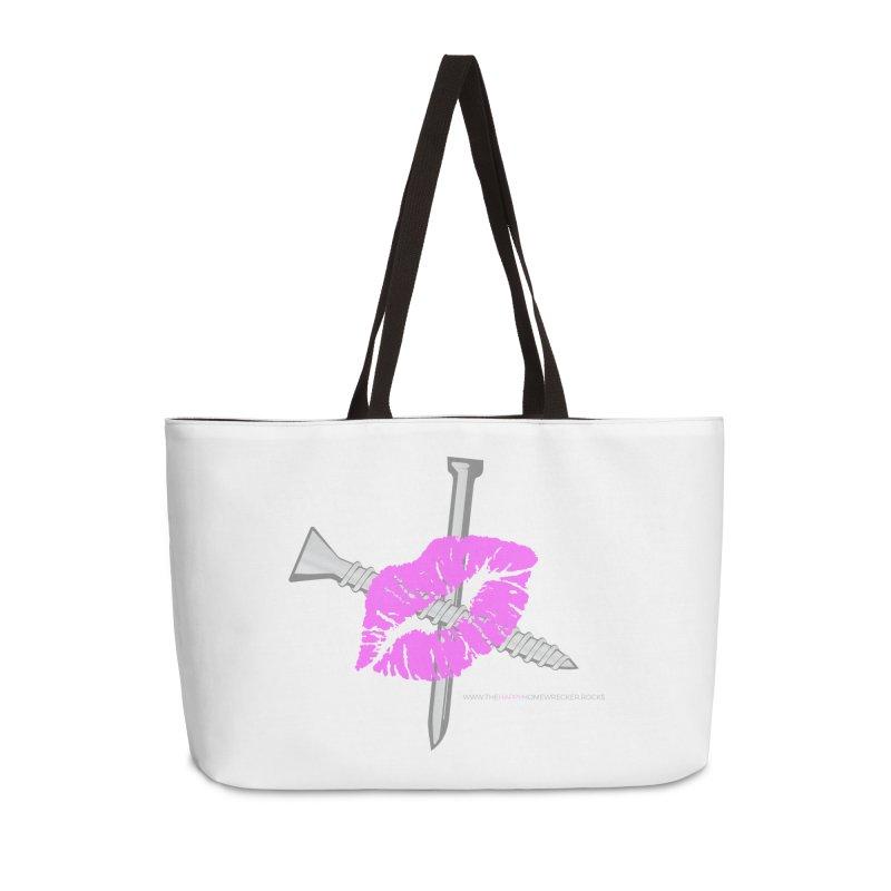The HappyHomeWrecker large logo in Weekender Bag by thehappyhomewrecker's Artist Shop