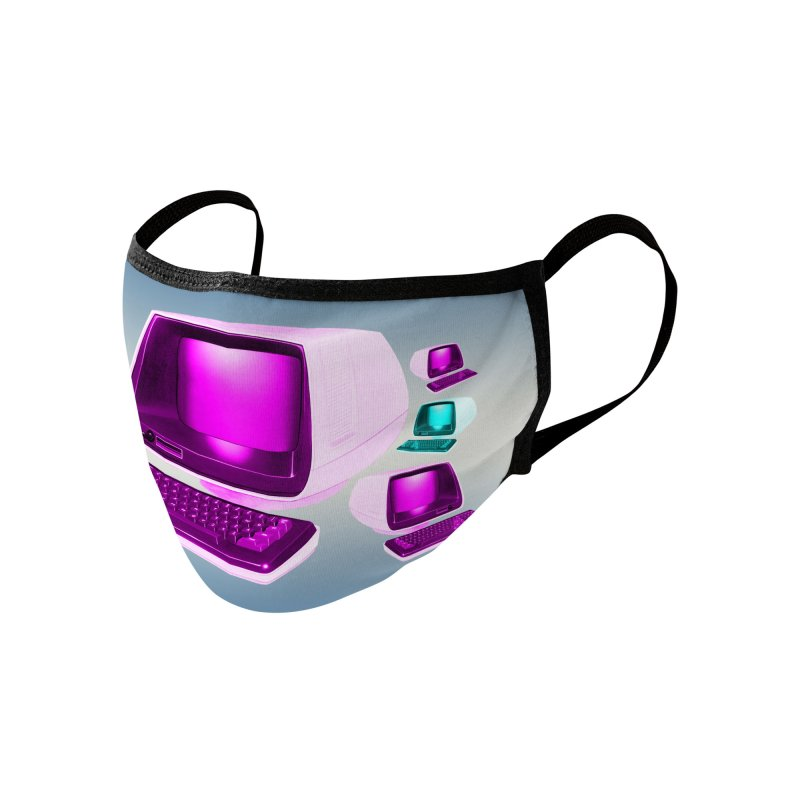 Retro Computer Accessories Face Mask by thehighscore's Artist Shop