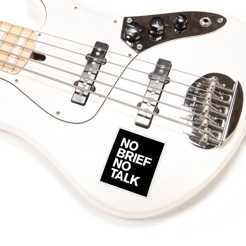 No Brief No Talk Accessories Sticker by The Incumbent Agency