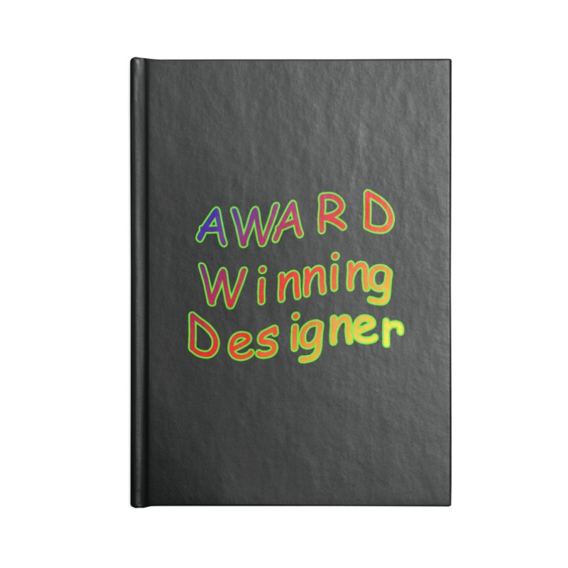 Award Winning Designer Accessories Lined Journal Notebook by The Incumbent Agency