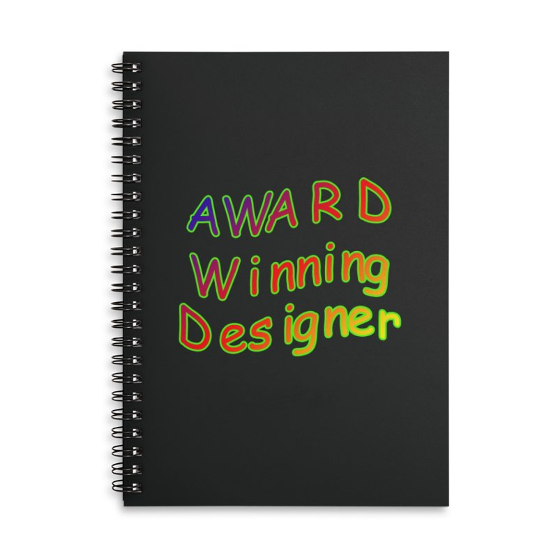 Award Winning Designer Accessories Lined Spiral Notebook by The Incumbent Agency