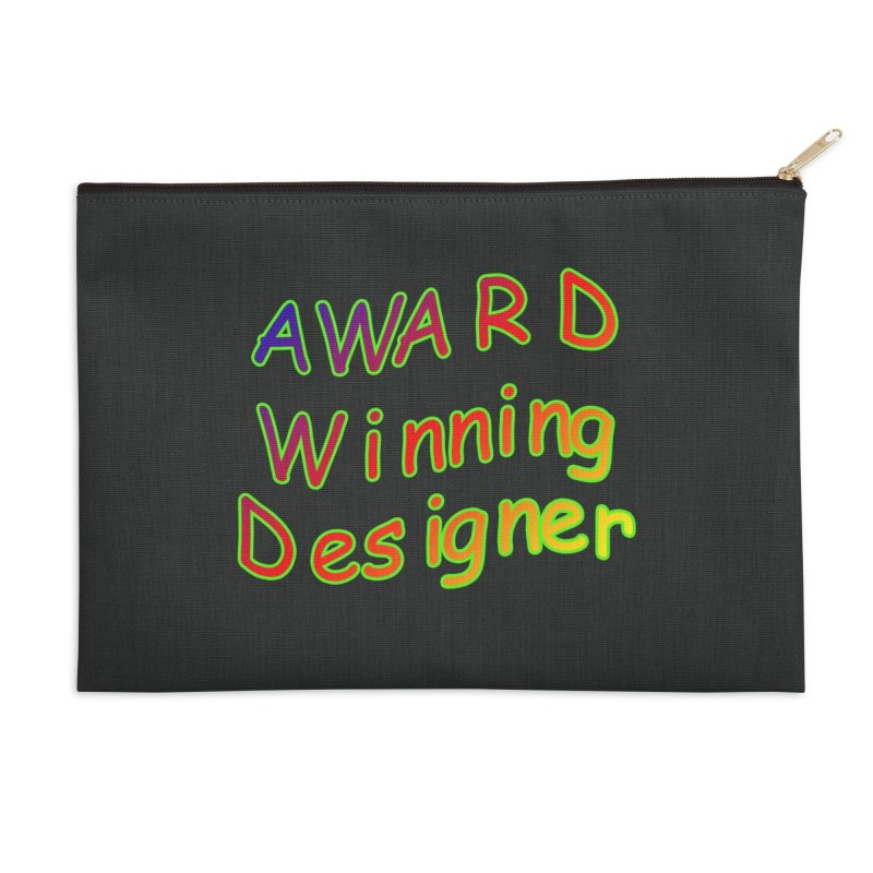 Award Winning Designer Accessories Zip Pouch by The Incumbent Agency