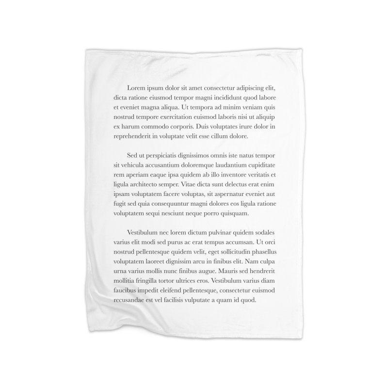 Lorem Ipsum Home Fleece Blanket Blanket by The Incumbent Agency