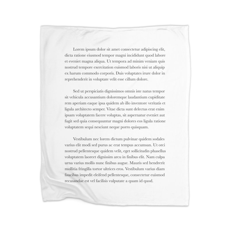 Lorem Ipsum Home Blanket by The Incumbent Agency