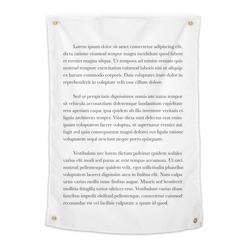 Lorem Ipsum Home Tapestry by The Incumbent Agency