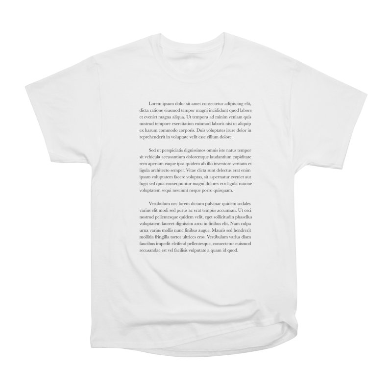 Lorem Ipsum Men's T-Shirt by The Incumbent Agency