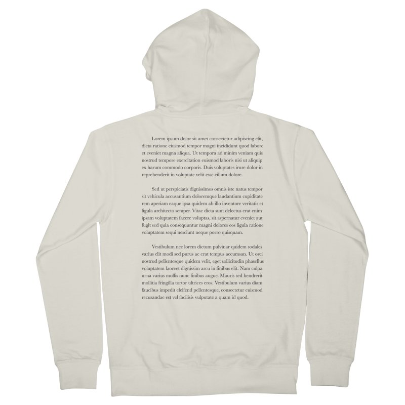 Lorem Ipsum Men's French Terry Zip-Up Hoody by The Incumbent Agency