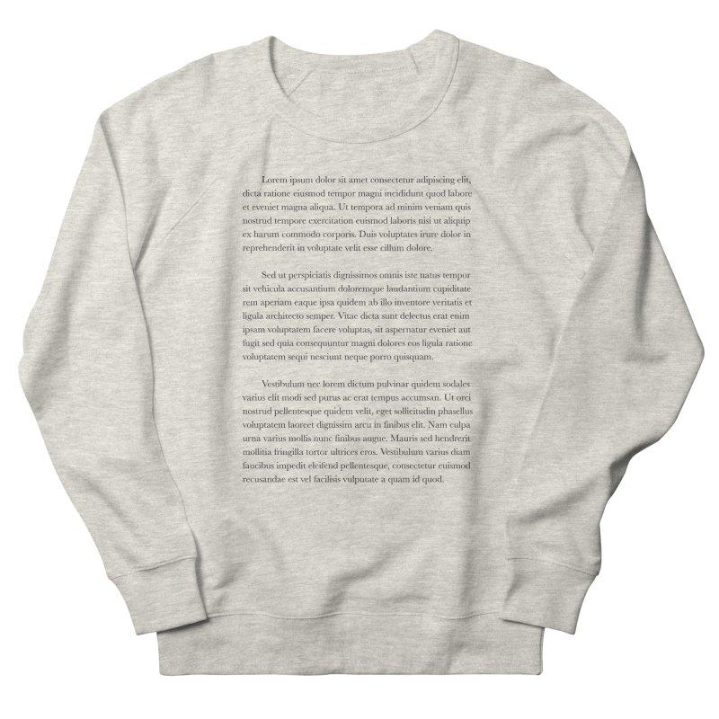 Lorem Ipsum Men's French Terry Sweatshirt by The Incumbent Agency
