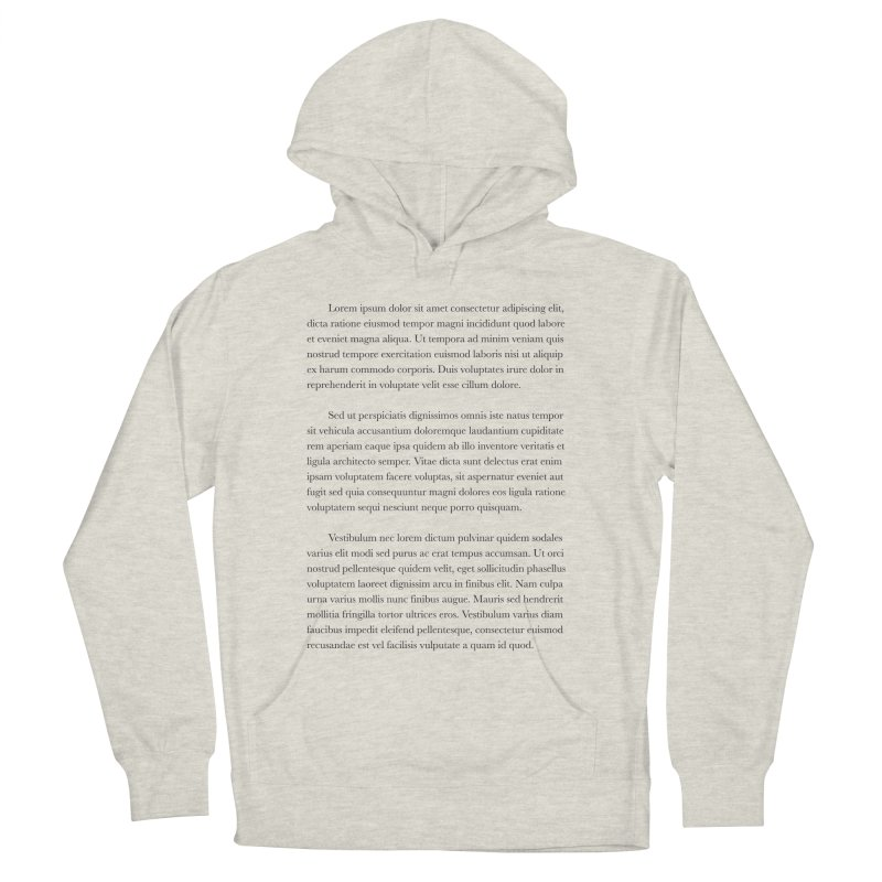 Lorem Ipsum Men's French Terry Pullover Hoody by The Incumbent Agency
