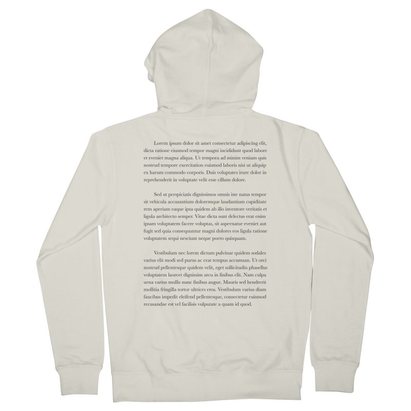 Lorem Ipsum Men's Zip-Up Hoody by The Incumbent Agency