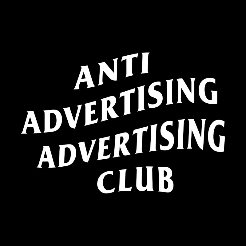 Anti Advertising Advertising Club Home Blanket by The Incumbent Agency