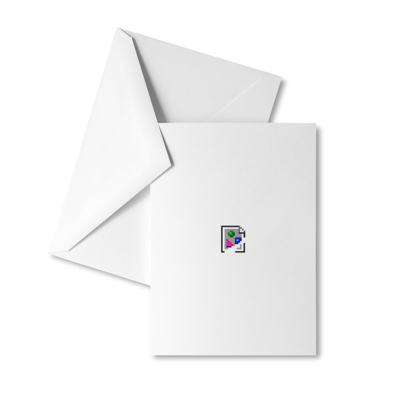 Broken Image Accessories Greeting Card by The Incumbent Agency