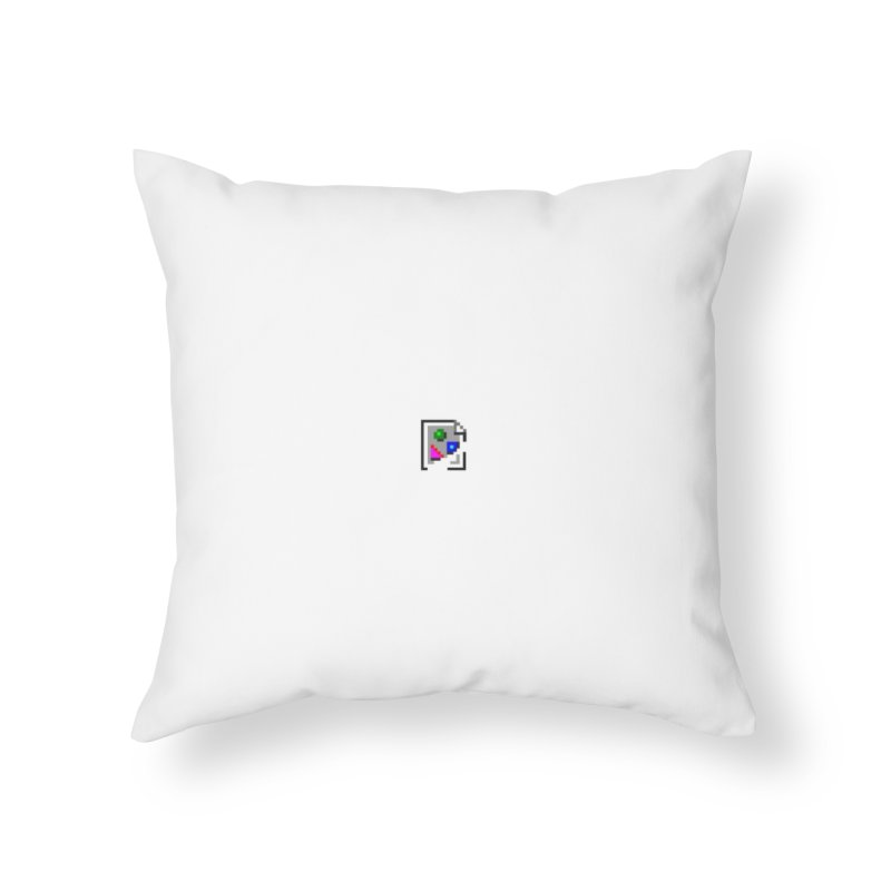 Broken Image Home Throw Pillow by The Incumbent Agency