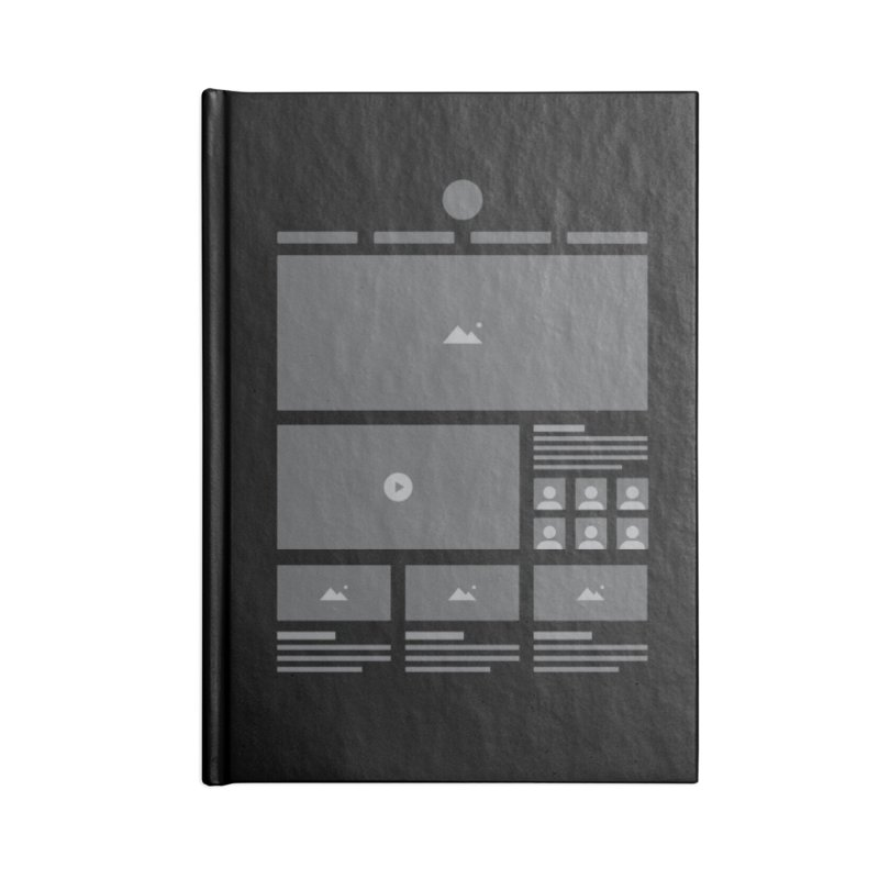 HTeeML Accessories Blank Journal Notebook by The Incumbent Agency