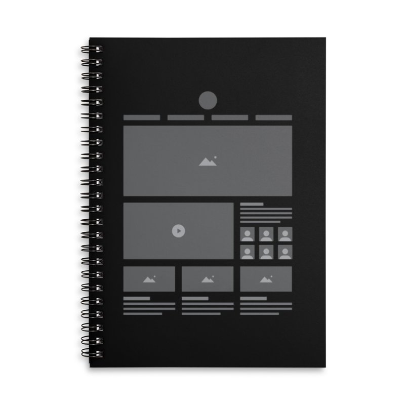 HTeeML Accessories Lined Spiral Notebook by The Incumbent Agency