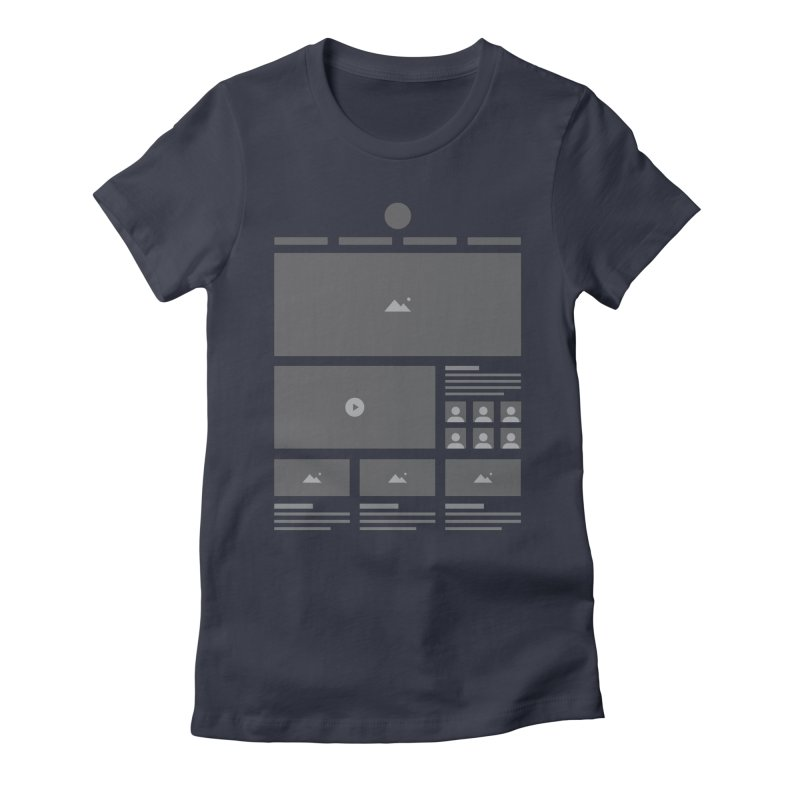 Wireframes Women's T-Shirt by The Incumbent Agency