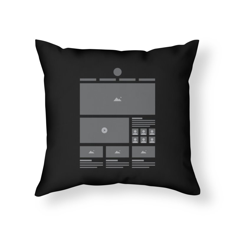 Wireframes Home Throw Pillow by The Incumbent Agency
