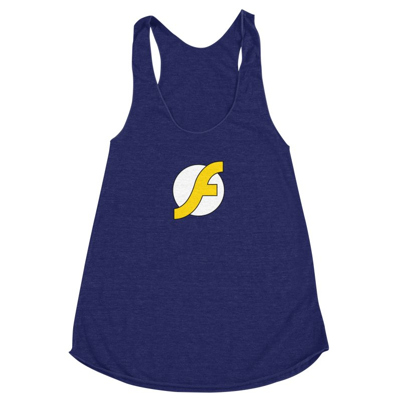 Flash Women's Racerback Triblend Tank by The Incumbent Agency
