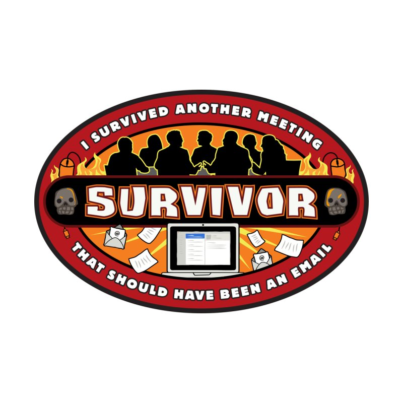 Meeting Survivor Accessories Sticker by The Incumbent Agency