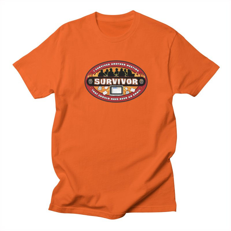 Meeting Survivor Men's Regular T-Shirt by The Incumbent Agency