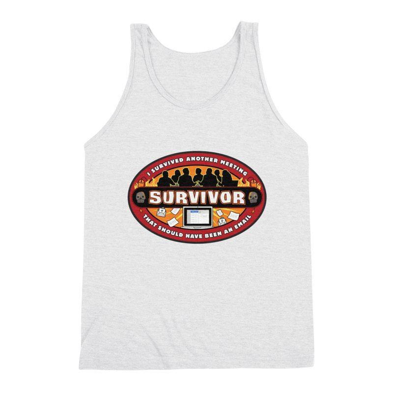 Meeting Survivor Men's Triblend Tank by The Incumbent Agency
