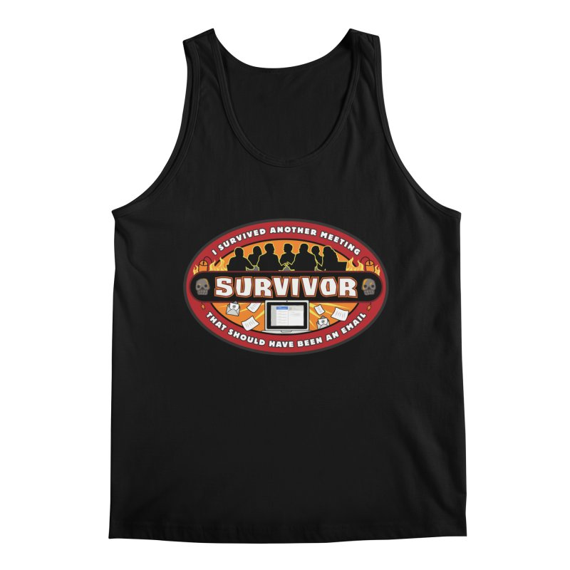 Meeting Survivor Men's Regular Tank by The Incumbent Agency
