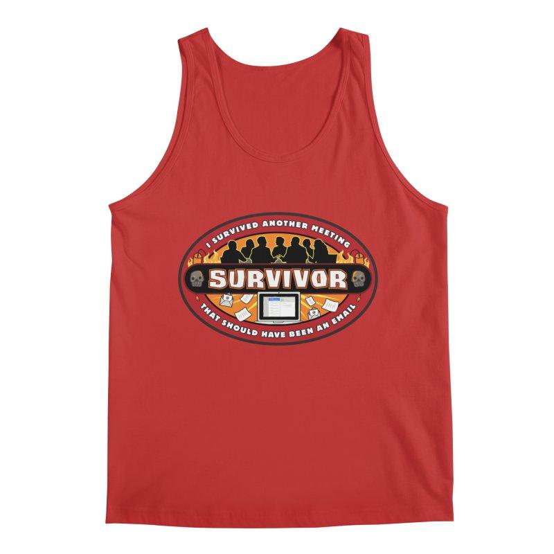 Meeting Survivor Men's Regular Tank by The Incumbent Agency